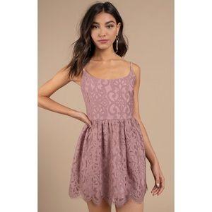 Tobi Pink Lace Dress NWOT